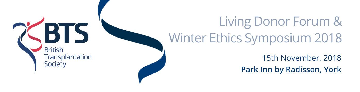 BTSLivingDonorForum&WinterEthics2018